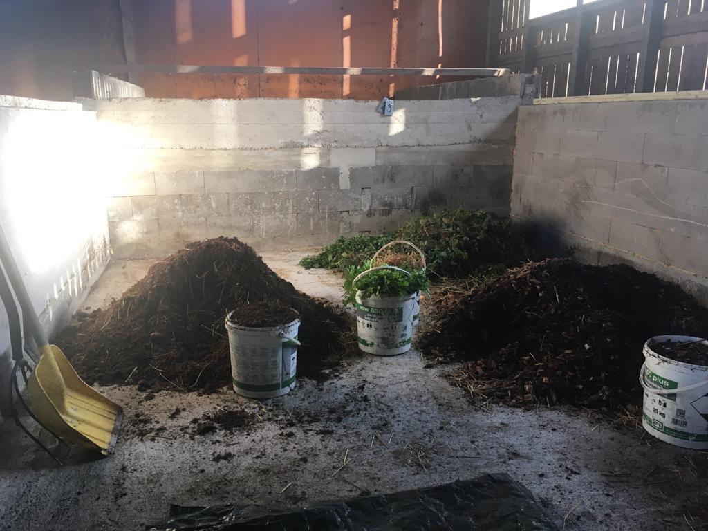 kompostimateriaalit kasoittain